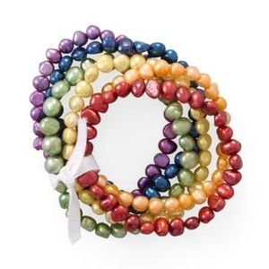 Jewelry - Rainbow Cultured Freshwater Pearl Bracelets